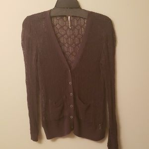 Free people brown cardigan